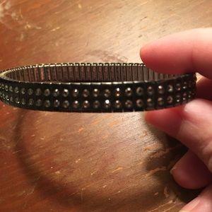 Swarovski Crystal Brown Stretch Bracelet